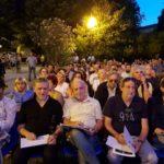 Premio Tamburini 2019 I componenti della giuria, da sinistra: Fabio Petretti, Javier Girotto, Claudio Donà, Marcello Tonolo e Giuseppe Fagnocchi (Foto: Chiara Paparella)