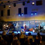 Premio Tamburini 2019 Javier Girotto con Stefano Onorati, Stefano Senni e Stefano Paolini (Foto: Chiara Paparella)