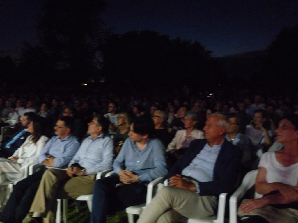 Polesella, il pubblico presente a Villa Morosini