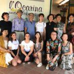 Foto del gruppo cinese con la famiglia Fecchio