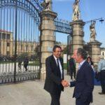 Il presidente UNPLI Veneto, Giovanni Follador saluta Luca Zaia